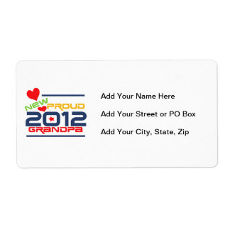 2012 Proud Grandpa T-shirts and Gifts Shipping Label