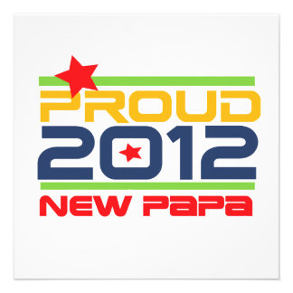 2012 Proud New Papa T-shirts and Gifts Announcement