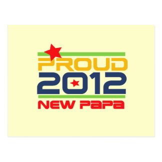 2012 Proud New Papa T-shirts and Gifts Postcard