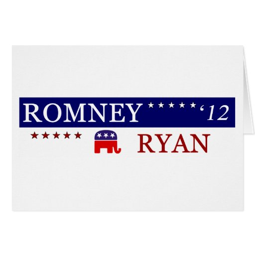 2012 Romney Ryan Campaign Card