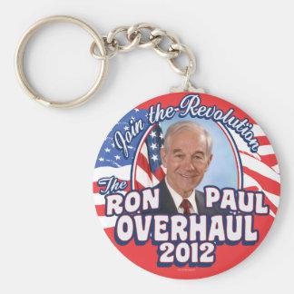 2012 Ron Paul Overhaul Basic Round Button Key Ring