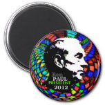 2012 Ron Paul Psychedelic magnet