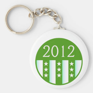 2012 Round Seal Green Color Party Version Basic Round Button Key Ring