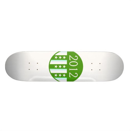2012 Round Seal Green Color Party Version Skateboard Decks