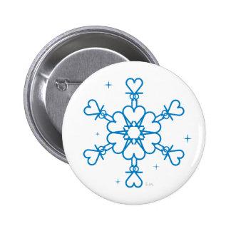 2012 Snowflake Button on white background