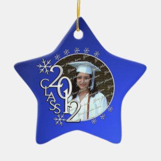 2012 Star Graduate Photo Double-Sided Star Ceramic Christmas Ornament