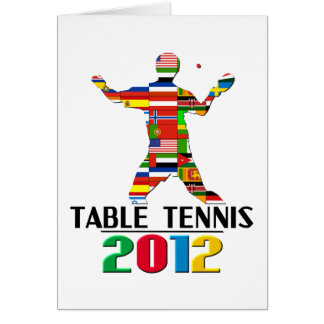 2012: Table Tennis Greeting Card