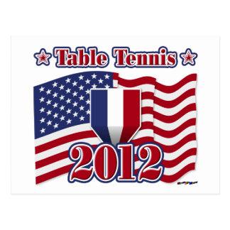 2012 Table Tennis Postcard
