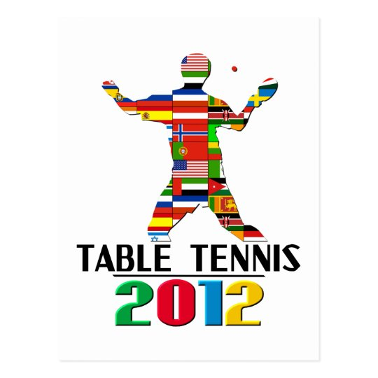 2012: Table Tennis Postcard