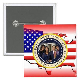 2012 US President Barack Obama 15 Cm Square Badge