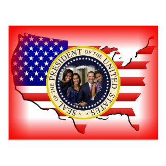 2012 US President Barack Obama Postcard