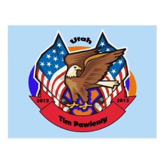 2012 Utah for Tim Pawlenty Postcard