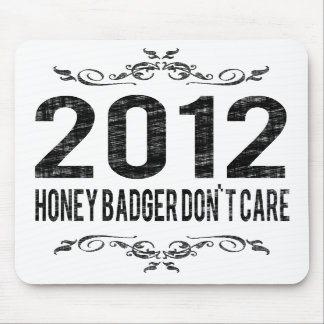 2012 Vintage Honey Badger Don't Care Mouse Pad