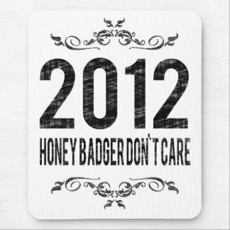 2012 Vintage Honey Badger Don't Care Mouse Pad