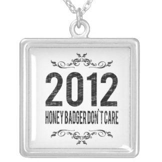2012 Vintage Honey Badger Don't Care Custom Necklace