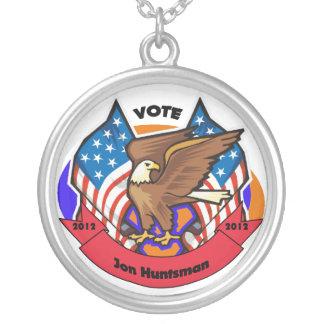 2012 Vote for Jon Huntsman Round Pendant Necklace