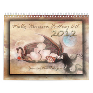 2012 Wall Calendar Dragons and Fairies