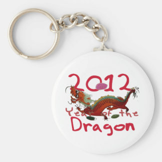 2012 - Year of th Dragon Basic Round Button Key Ring