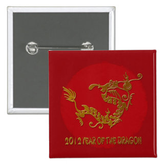2012 year of the dragon 15 cm square badge
