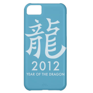 2012 Year of the Dragon Symbol iPhone Case (blue) iPhone 5C Covers