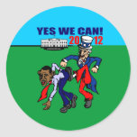 2012 YES WE CAN! ROUND STICKERS