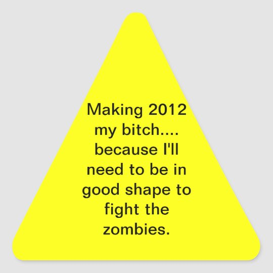 2012 Zombie Exercise Sticker