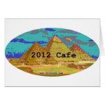 2012Cafe Pyramids Logo Greeting Card