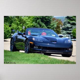 2013 60th Anniversary C6 Corvette 427 convertible Poster
