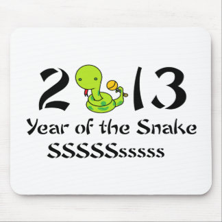 2013 Baby Snake - Green Mouse Pad