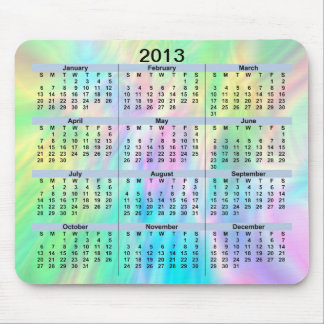 2013 Calendar Pastel Mousepad