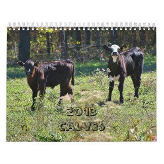 2013 Calves Wall Calendars