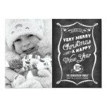 2013 Chalkboard Typography Christmas Flat Card Invitations