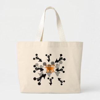2013 Cheerleader Orange Gray Canvas Bags
