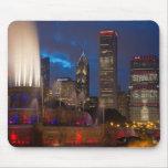 2013 Chicago Blackhawks Skyline Mousepads