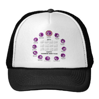 2013 Chinese Zodiac Happy New Year Calendar Hats