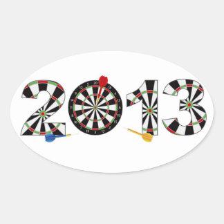 2013 Dartboard and Darts Sticker