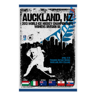 2013 Div 2A Ice Hockey Worlds New Zealand Poster