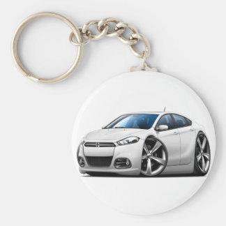2013 Dodge Dart White Car Basic Round Button Key Ring