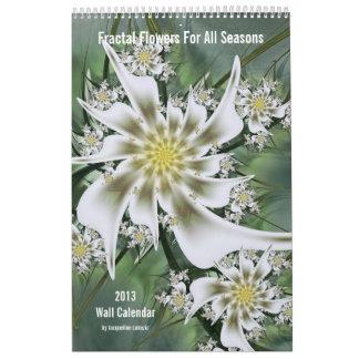 2013 Fractal Flowers Wall Calendar