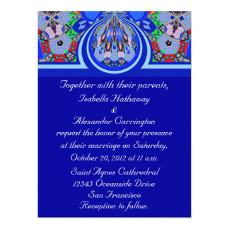 2013 Gorgeous Blue Personalised Party Invitations