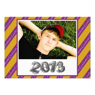2013 Graduation Invitation Purple and Gold