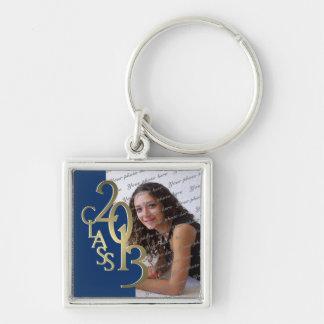 2013 Graduation Keepsake Blue Gold Key Ring