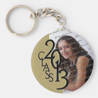 2013 Graduation Keepsake Gold Basic Round Button Key Ring