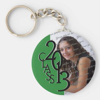 2013 Graduation Keepsake Green Basic Round Button Key Ring