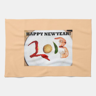 2013 happy new year asian chinese hand towel