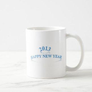 2013 HAPPY NEW YEAR BASIC WHITE MUG