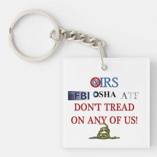2013 IRS Scandal Single-Sided Square Acrylic Key Ring