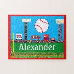 2013 Kids Sports Baseball Puzzle Personalised Gift