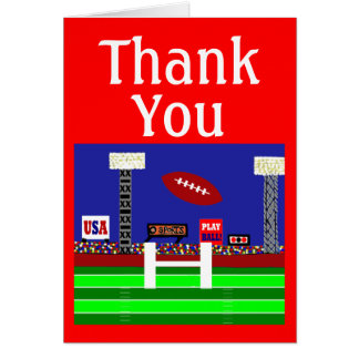 2013 Kids Sports Football Thank You Notes Gift Note Card