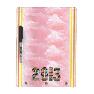 2013 Morning Dew Rose Petal Art Dry Erase Whiteboard
